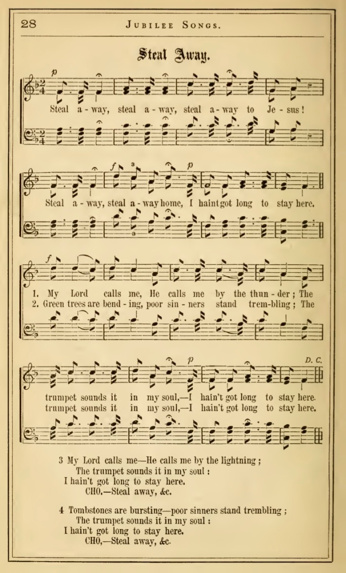 Fisk Jubilee Singers_Steal Away_ English