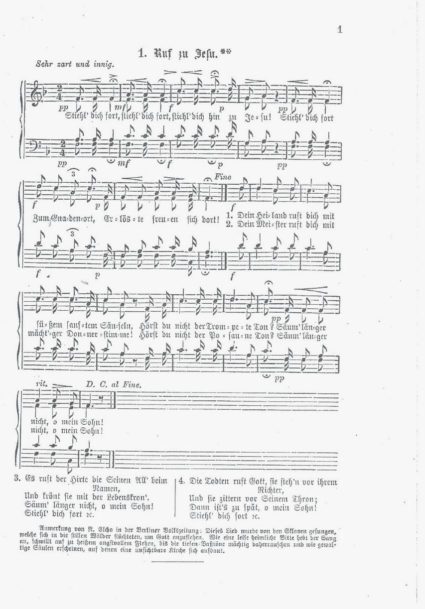 Jubilee Singers Ruf zu Jesu