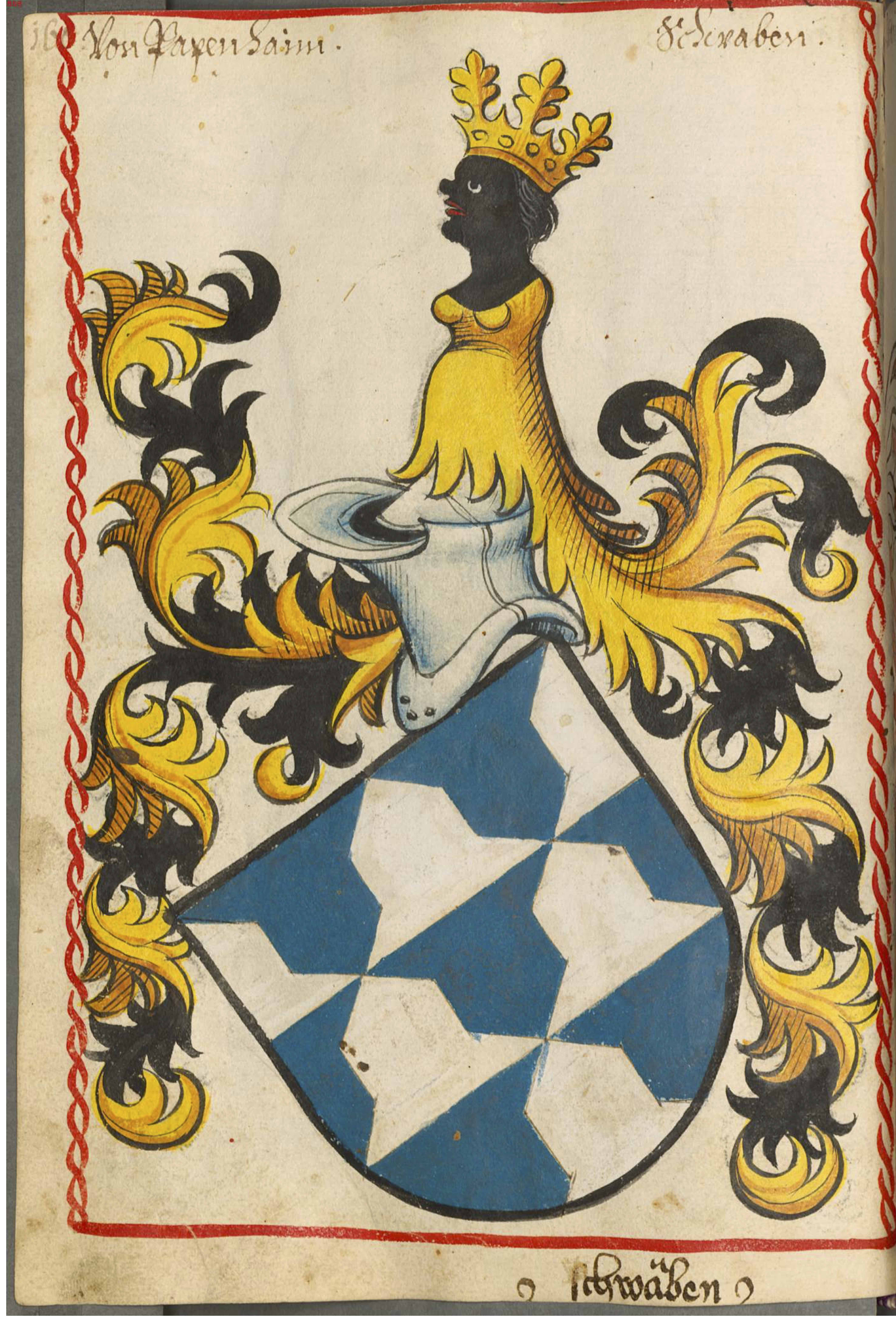 crowned moors on crests  ca  1263