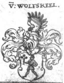 The von Wolfskeel crest (1612)