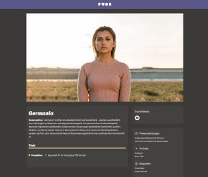"""""""funk"""" network page on Germania"""